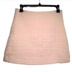 Tweed Skirt Pink and White